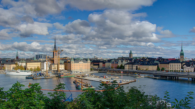 Panorama asupra orasului Stockholm