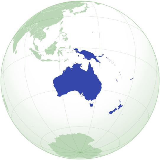 Steagurile tarilor din Oceania