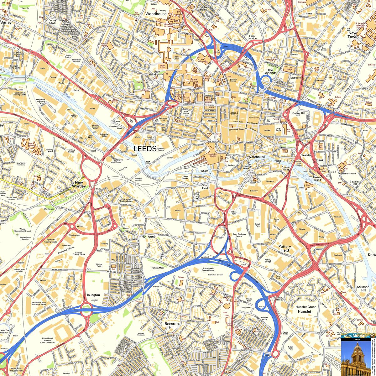 Harta Leeds