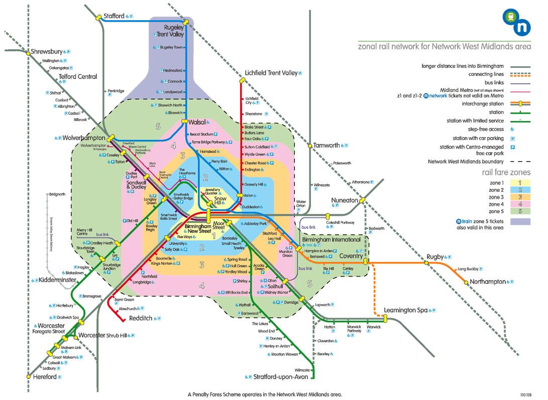 Harta metrou Birmingham