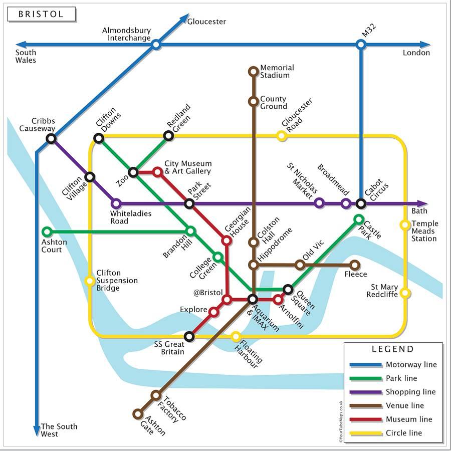 Harta metrou Bristol