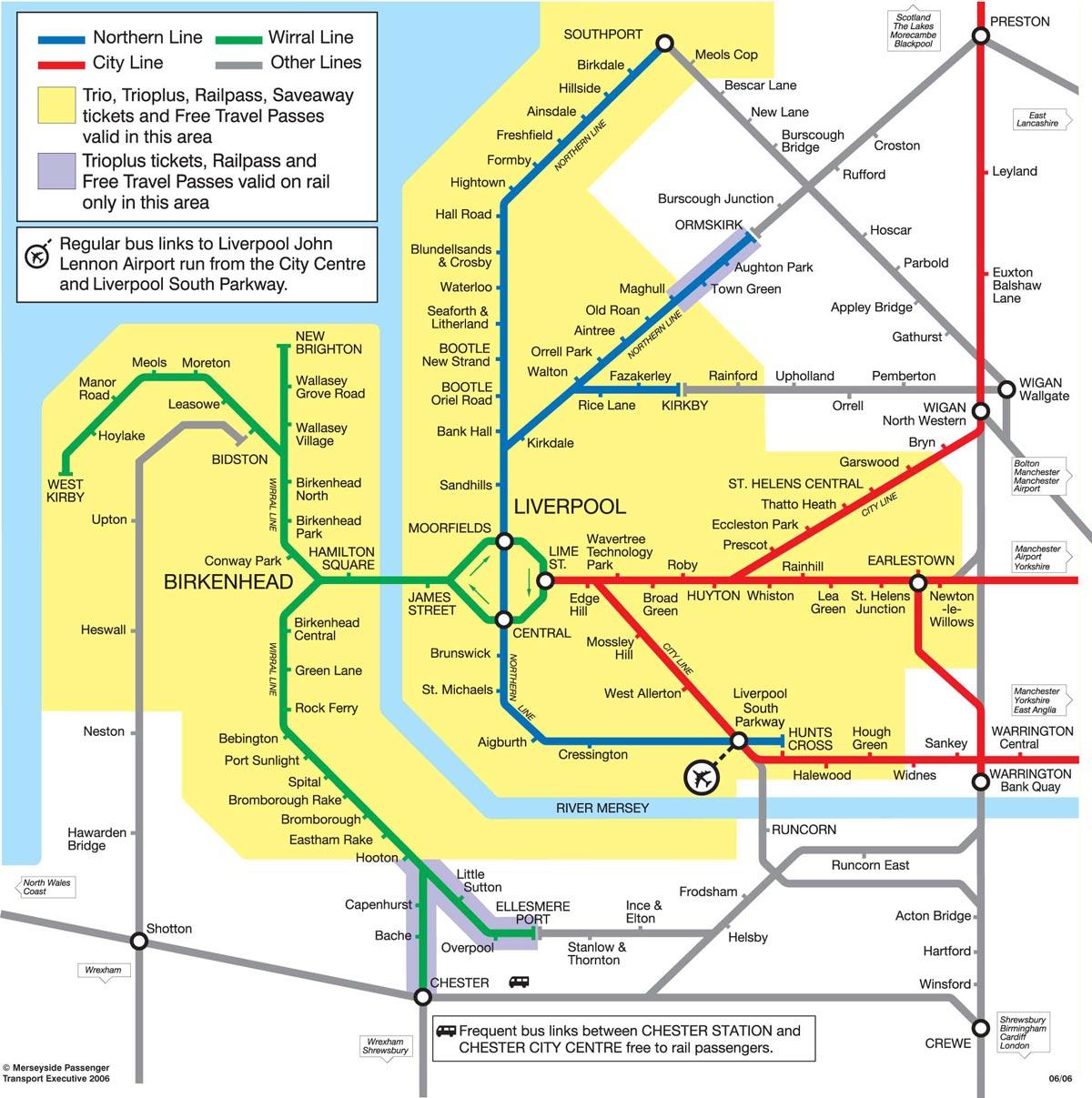 Harta metrou Liverpool