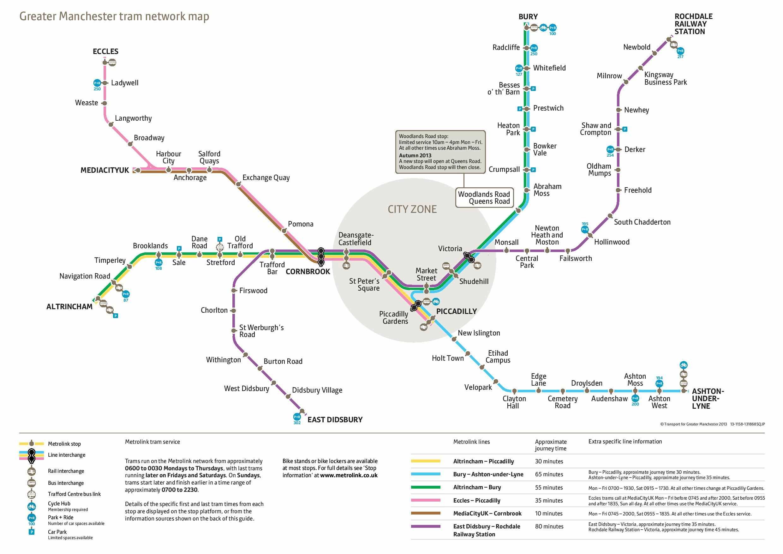 Harta metrou Manchester