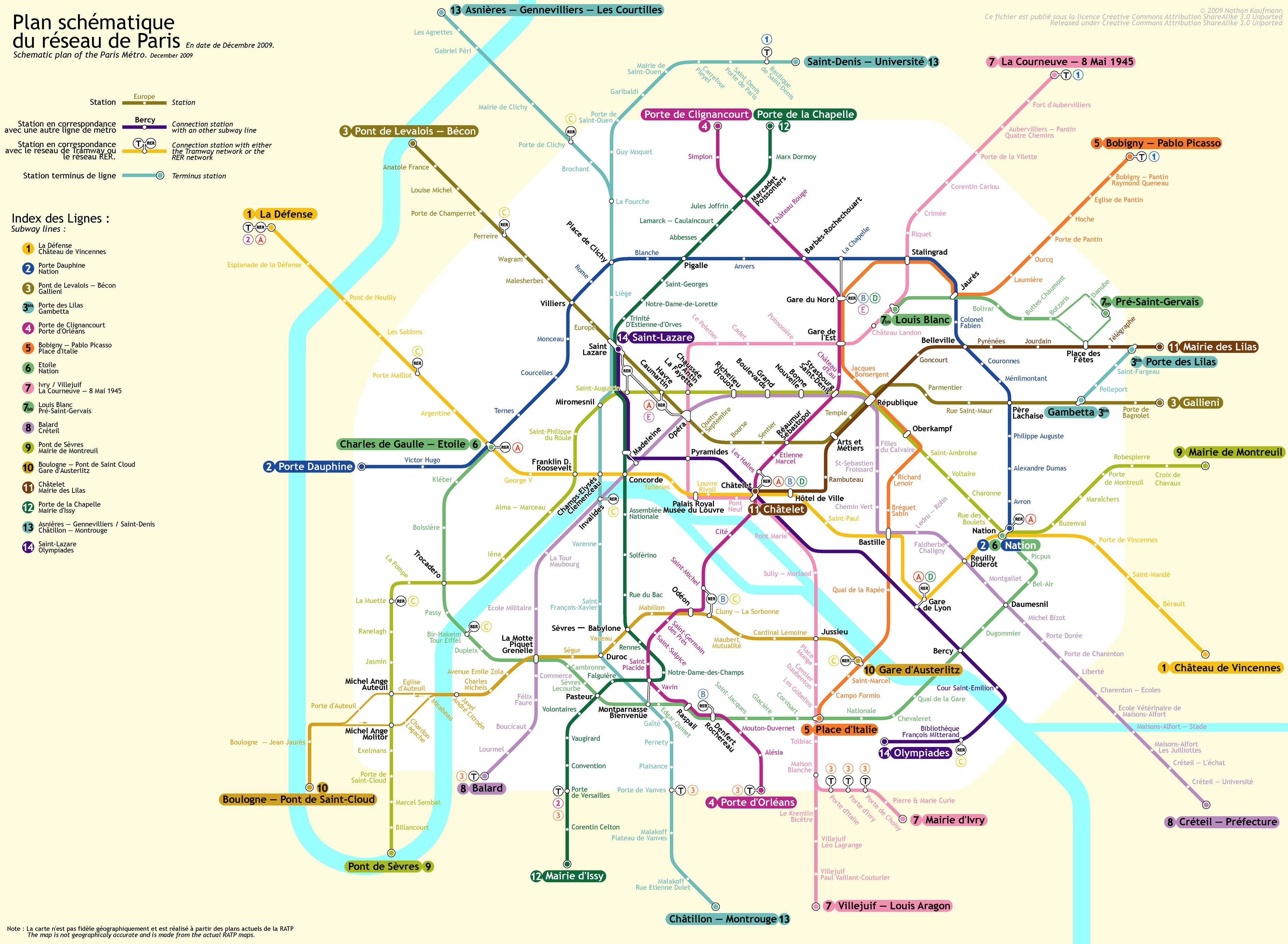 Harta metrou Paris