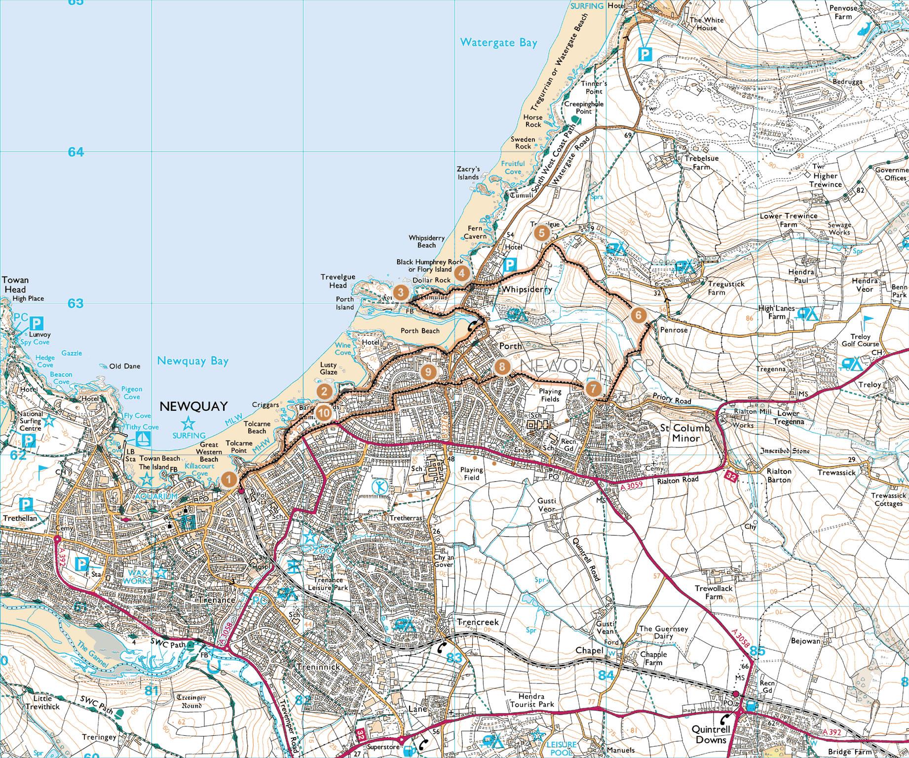 Harta Newquay