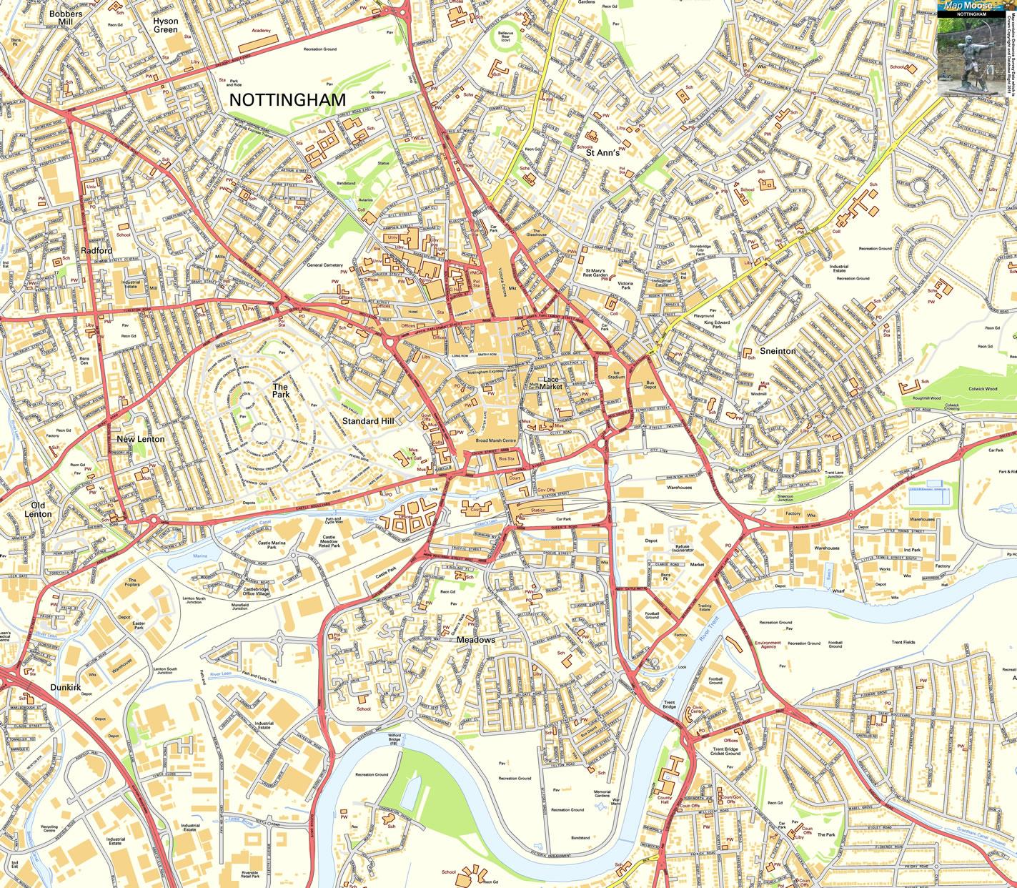 Harta Nottingham