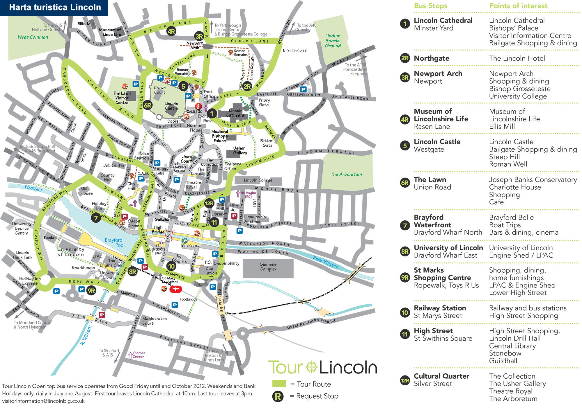 Harta transport Lincoln