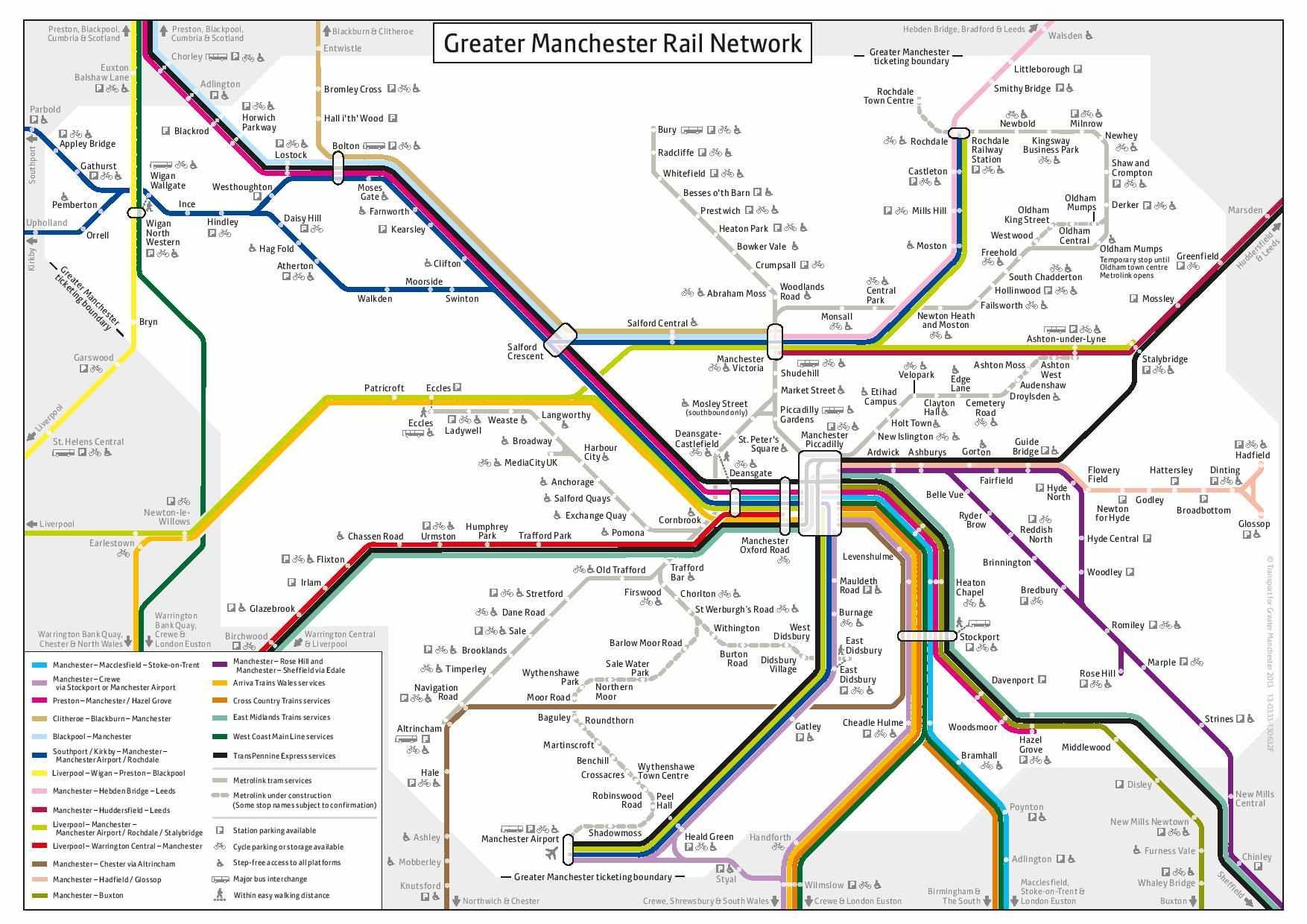 Harta transport Manchester