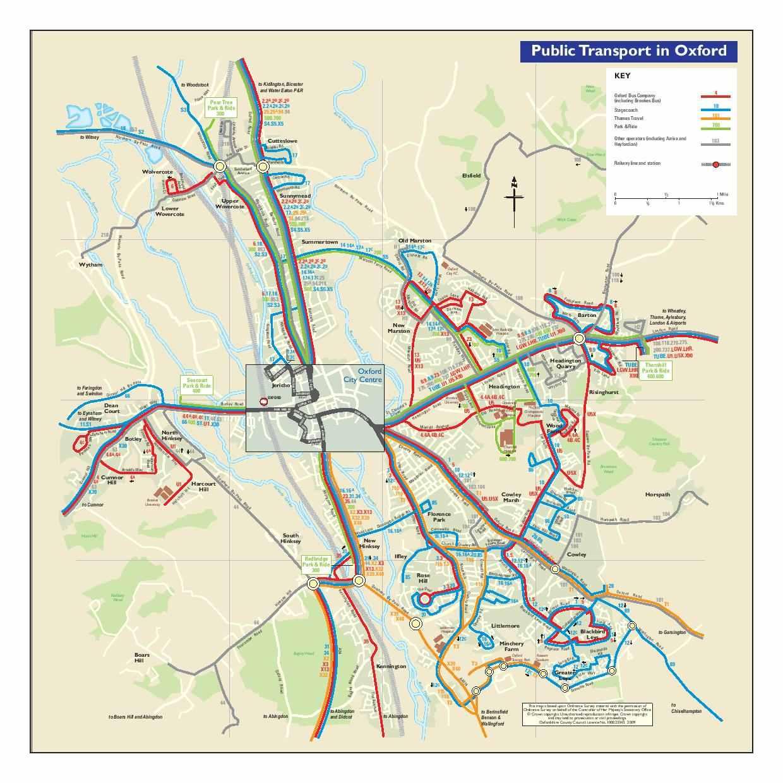 Harta metrou Oxford