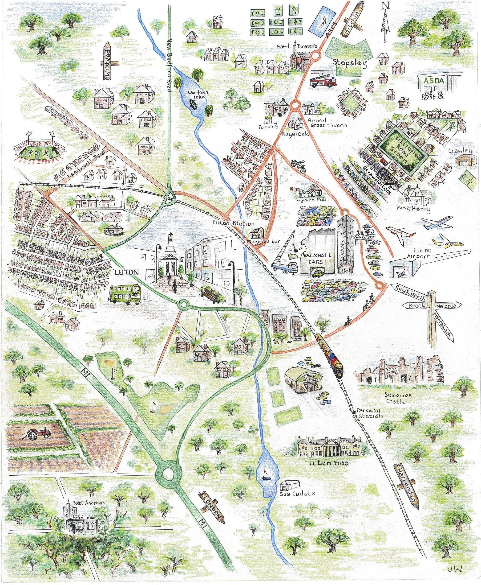 Harta Luton