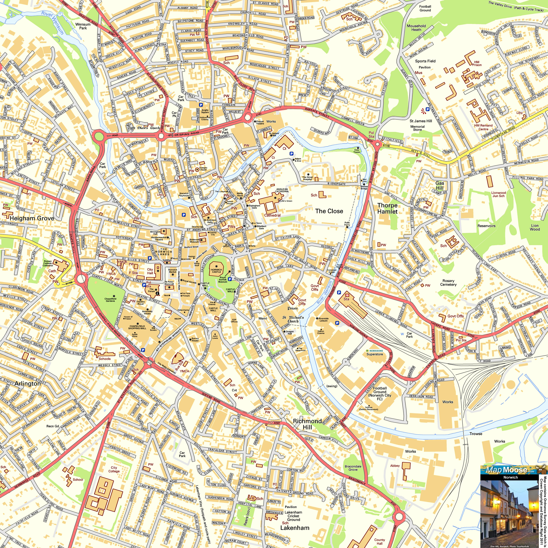 Harta Norwich
