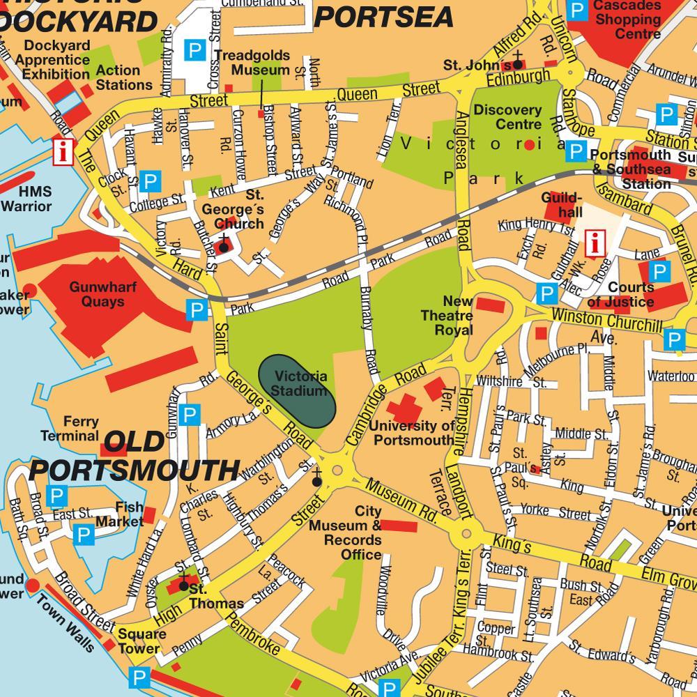 Harta Portsmouth