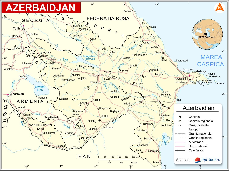 Harta Azerbaidjan
