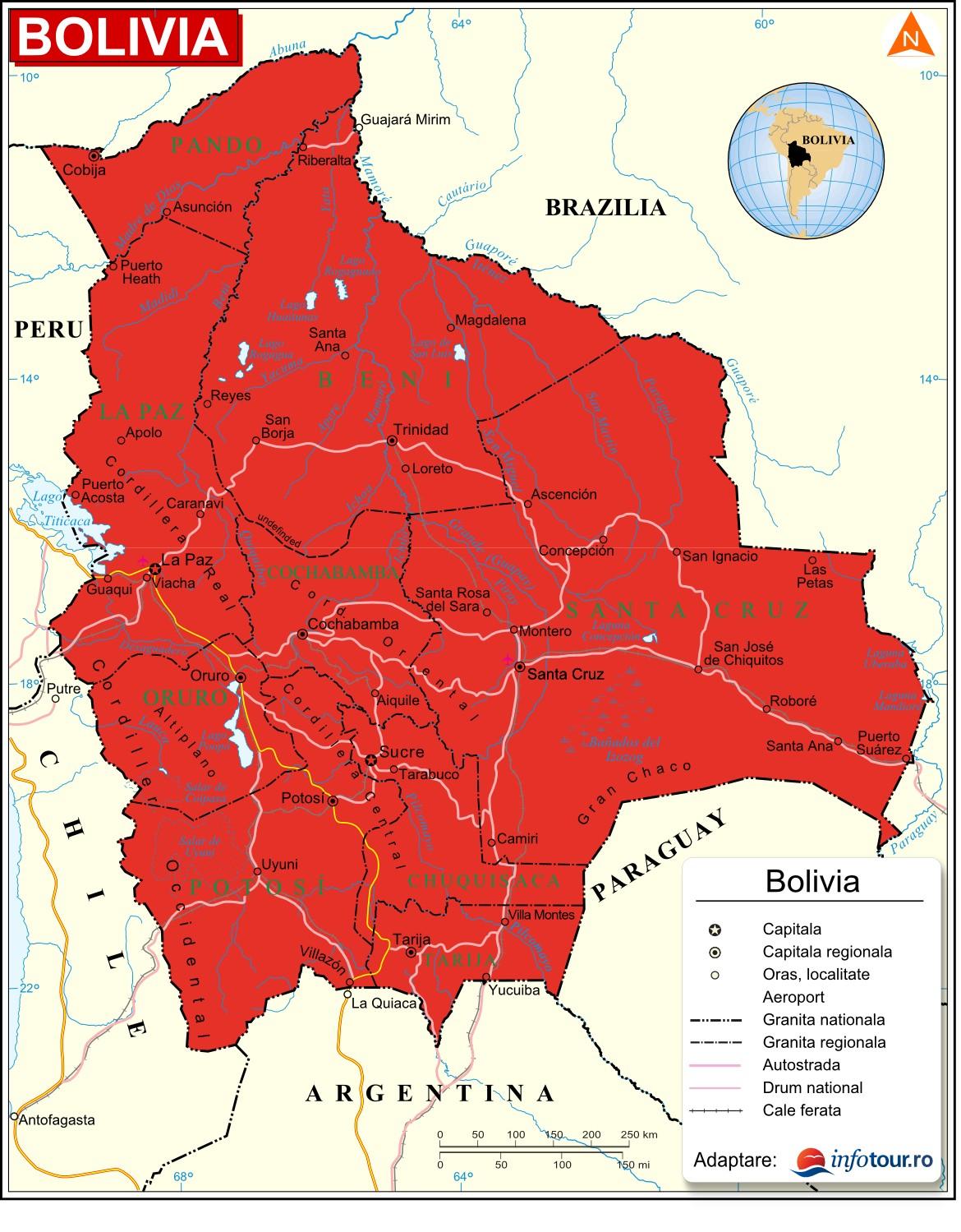 Harta Bolivia