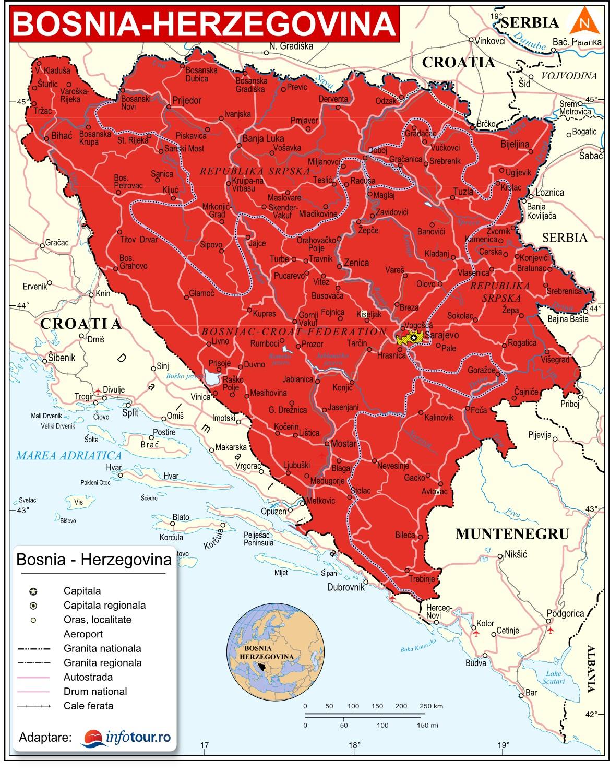 Harta Bosnia-Hertegovina