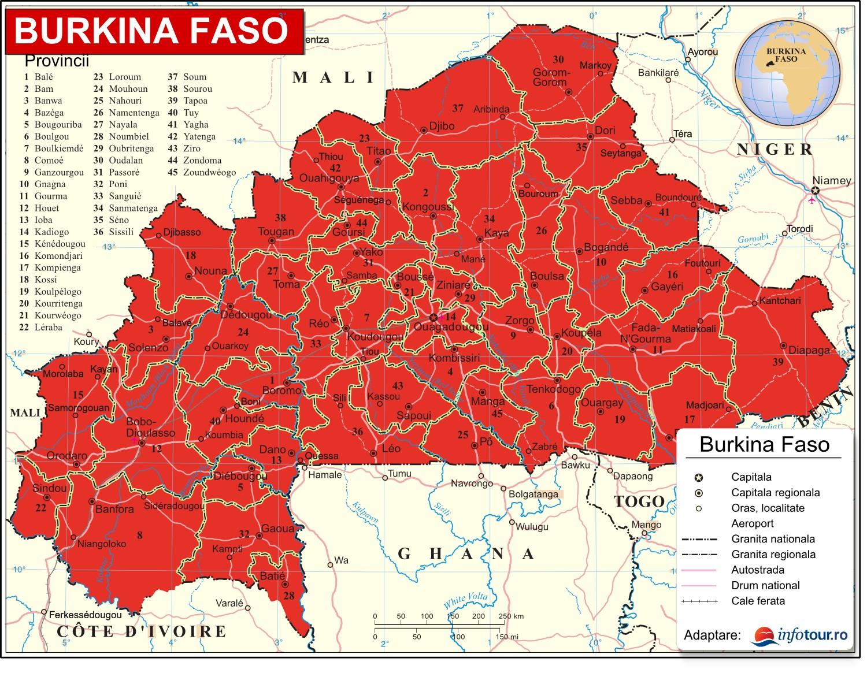 Harta Burkina Faso