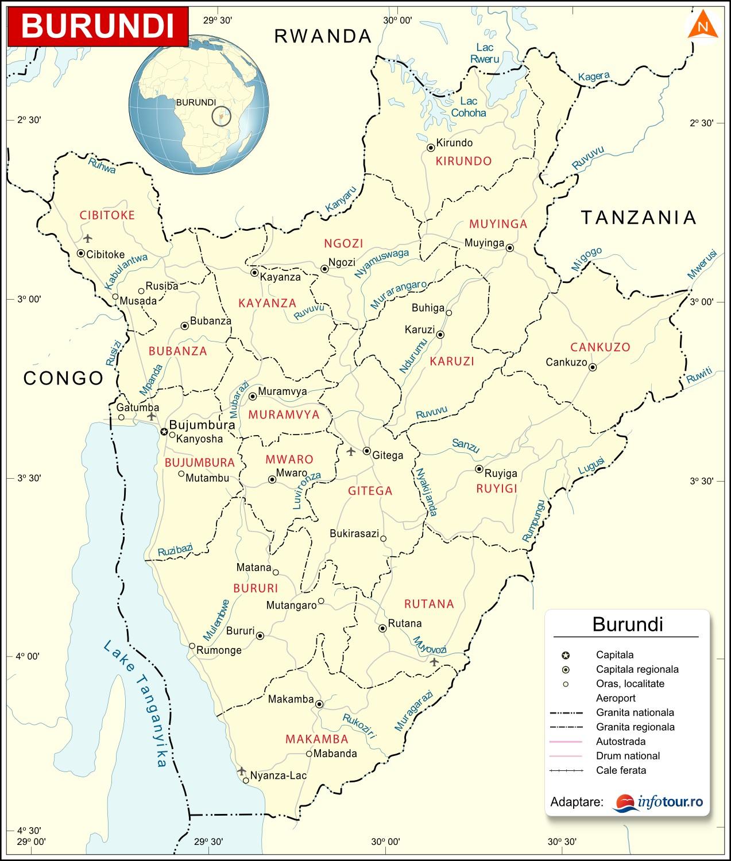 Harta Burundi