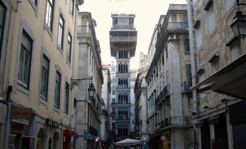 Funicularul Santa Justa din Lisabona