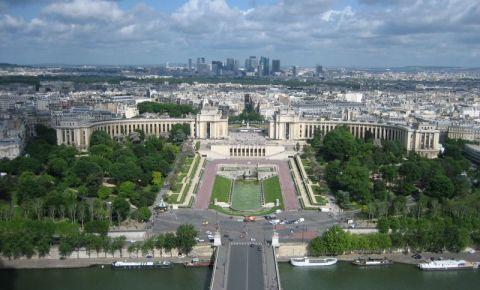 Palatul Chaillot si Gradinile Trocadero din Paris
