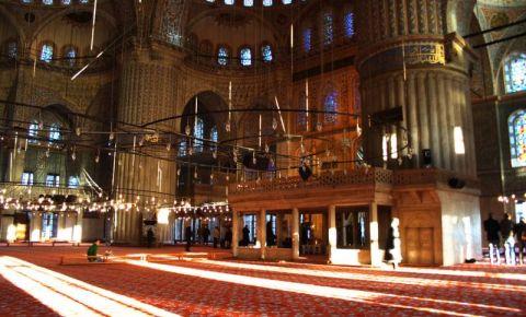 Moscheea Albastra din Istanbul (interior)