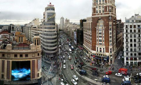 Bulevardul Gran Via din Madrid
