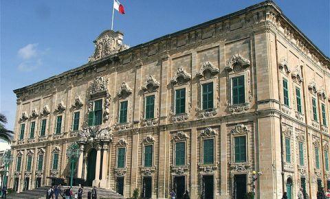 Cladirea Auberge de Castile et Leon din Valletta