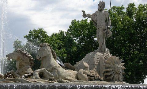 Fantana lui Neptun din Madrid