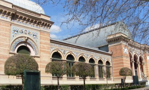 Parcul Retiro din Madrid (intrare)