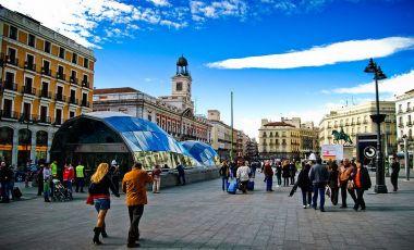 Piata Puerta del Sol din Madrid