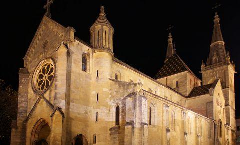 Biserica Colegiala din Neuchatel (noaptea)