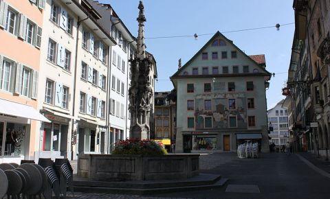 Fantana Weinmarkt din Lucerna
