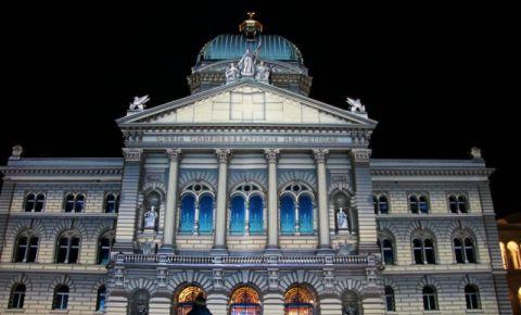 Palatul Federal din Berna (noaptea)