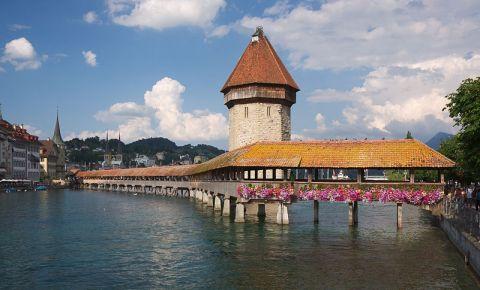 Podul Capelei din Lucerna (panorama)