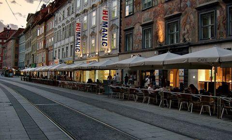 Strada Herrengasse din Graz