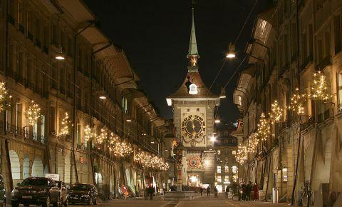 Turnul cu Ceas din Berna (noaptea)