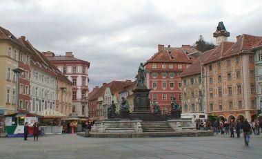 Piata Hauptplatz din Graz