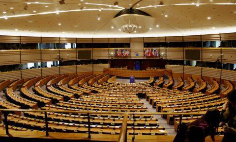 Parlamentul European din Bruxelles (interior)