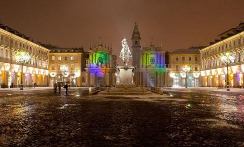 Piata San Carlo din Torino (noaptea)