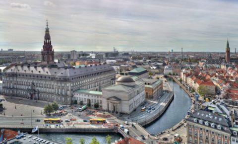 Insula Slotsholmen din Copenhaga