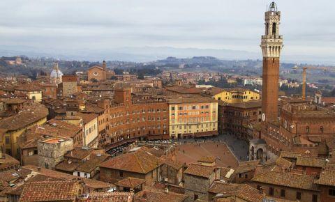 Piazza del Campo din Siena (panorama)