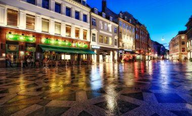 Zona Pietonala Stroget din Copenhaga