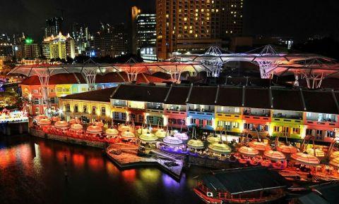 Restaurantele Boat Quay si Clarke Quay din Singapore
