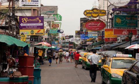 Bulevardul Khao San din Bangkok