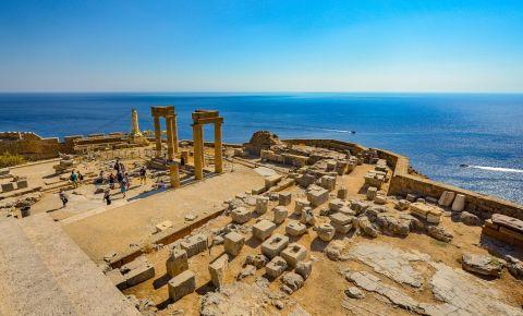Acropola Lindos din Insula Rodos