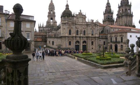 Piata Azabacheria din Santiago de Compostela