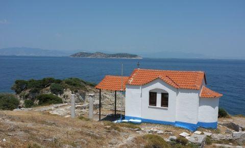 Capul Evreokastro din Insula Thassos