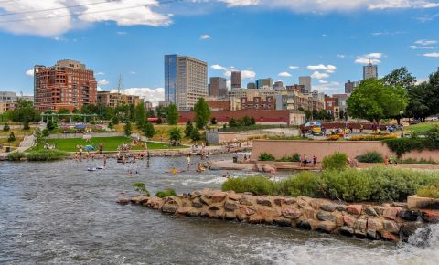 Parcul Confluence Park din Denver
