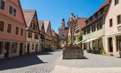 Fantana Herterich din Rothenburg ob der Tauber