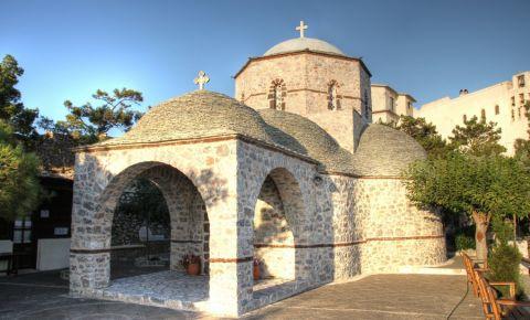 Muntele si Manastirea Profetul Ilie din Insula Santorini