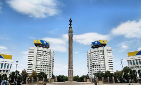 Monumentul Independentei din Alma Ata
